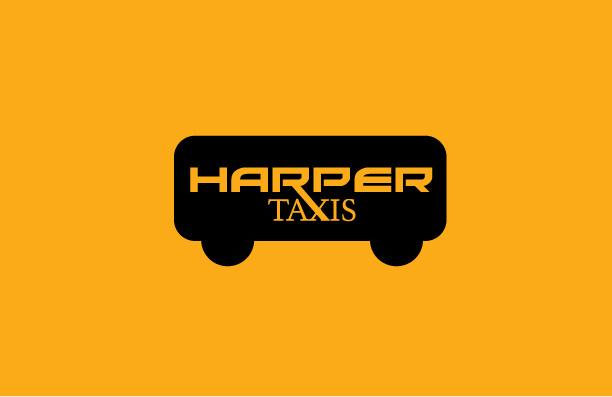 Black Taxi Logo Design