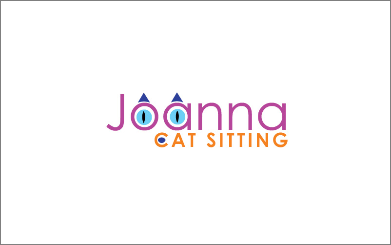 Cat Sitting Logo Design