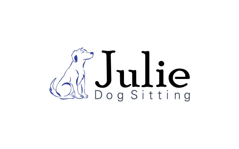Dog Sitting Logo Design
