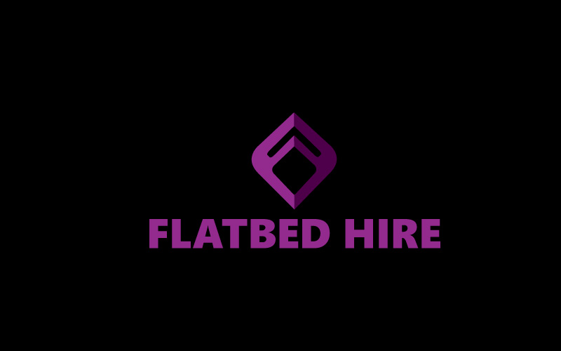 Flatbed Hire Logo Design