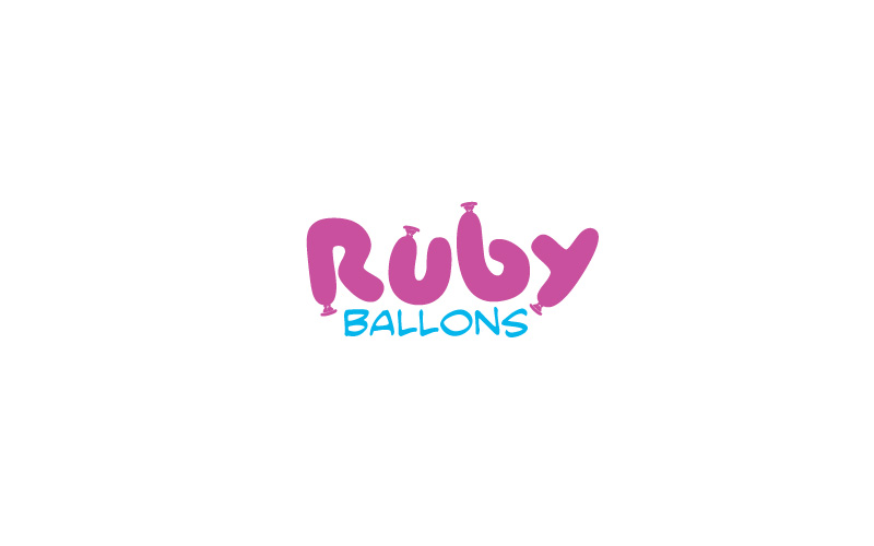 Helium Balloons Logo Design