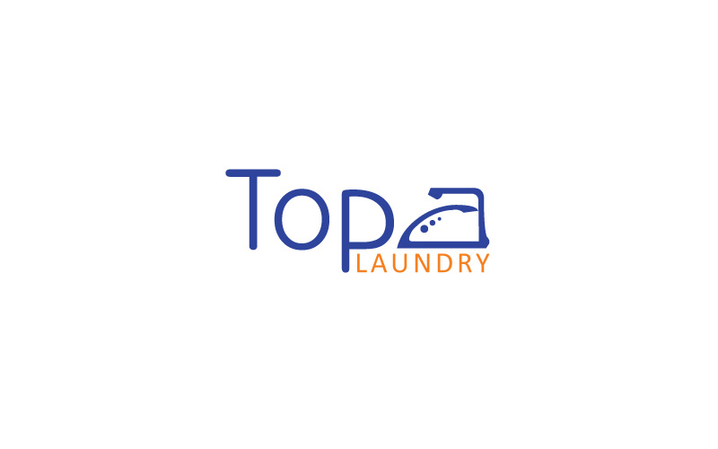 Ironing & Laundry Services Logo Design