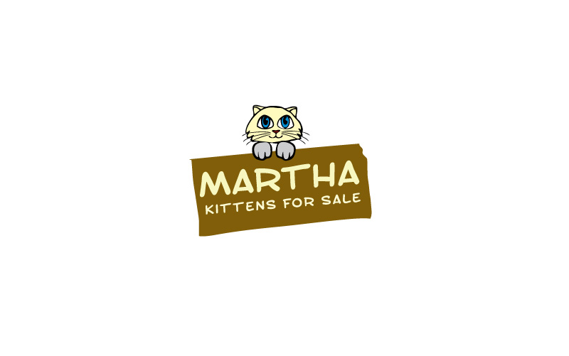 Kittens For Sale Logo Design