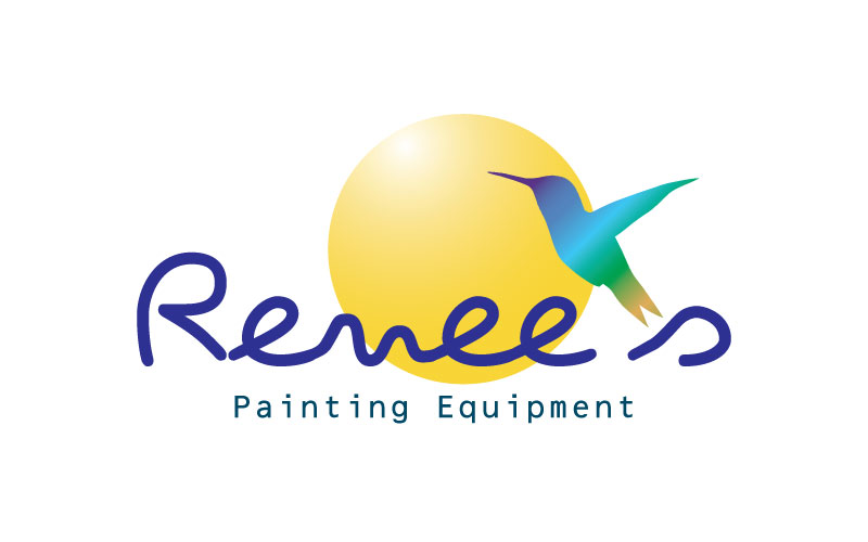 Paint Spraying & Mixing Equipment Logo Design