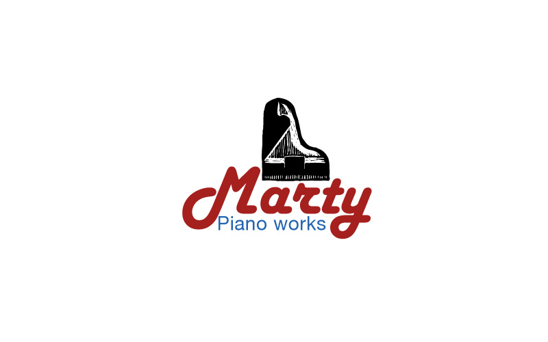 Piano Tuning & Repair Logo Design