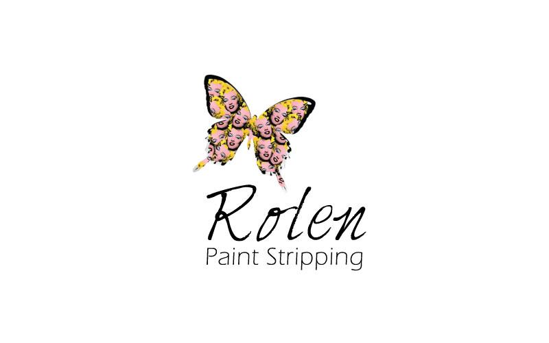 Paint Stripping Logo Design