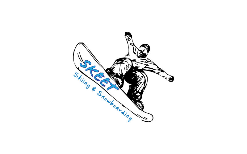 Skiing & Snowboarding Logo Design