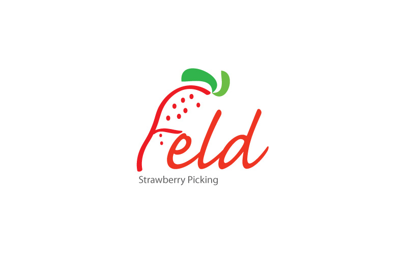 Strawberry Picking Logo Design