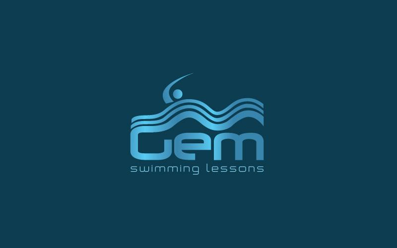 Swimming Lessons Logo Design