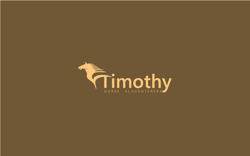 Horse Slaughterers Logo Design