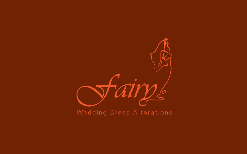 Wedding Dress Alterations Logo Design