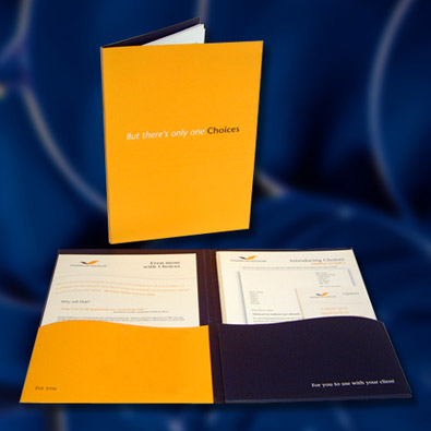 Press release folder Designs