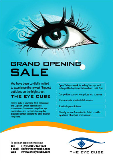 grand opening sale press Ad design