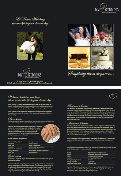 divine wedding Brochure Design