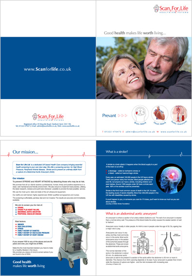 scan for life Brochure