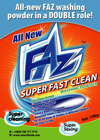 washing powder poster design