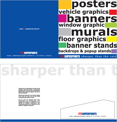 ite superprint presentation folders