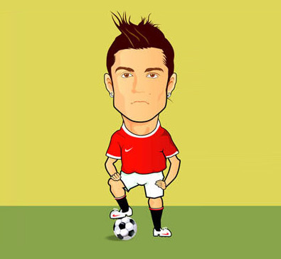 football player cartoon character