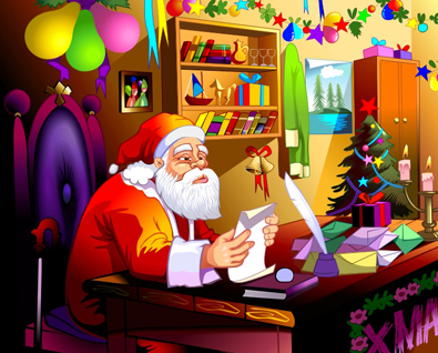 Santa Claus Book Illustration