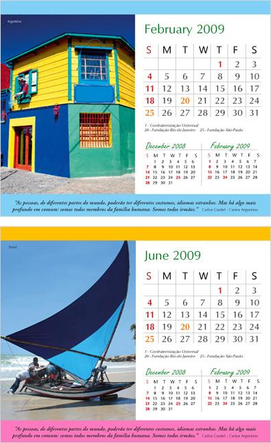 Desk Calendar Design