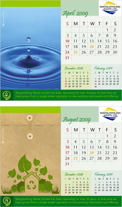 A5 Desk calendar Design