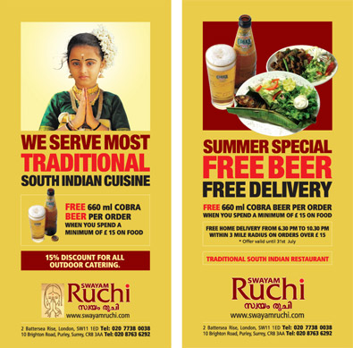 indian restaurant flyer